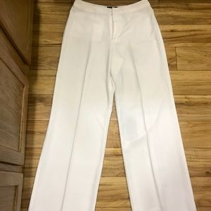 MetroStyle Long Creased White Pants